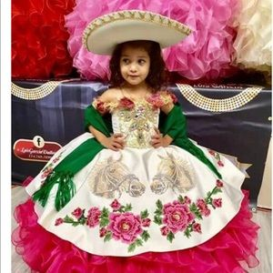 Girl Luxury Mexican Designer dress